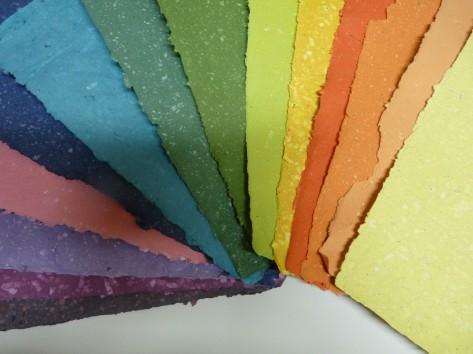 Ruční papír barevný A3