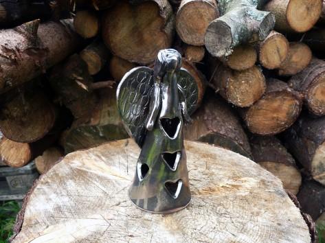 Keramický svícen anděl KE 2