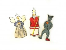 Anděl, Mikuláš a čert